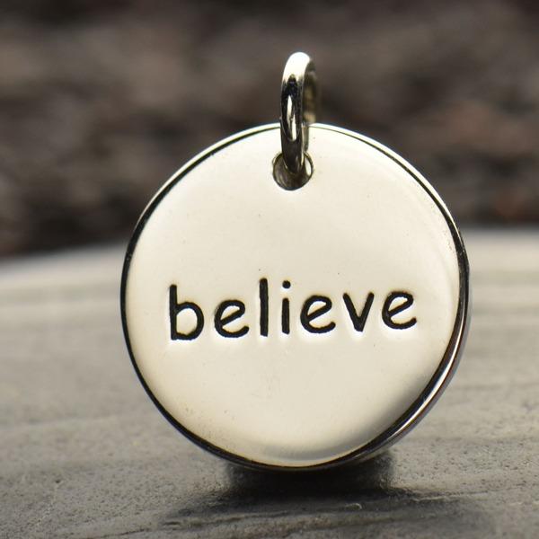 Believe Round Charm
