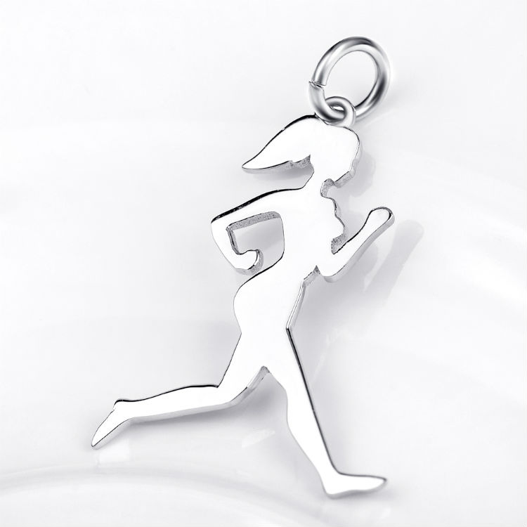 Runner Girl Silhouette