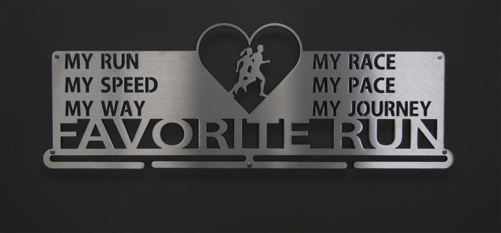 Favorite Run Heart Medal Display