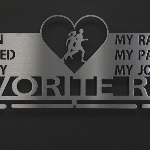 Favorite Run Heart Medal Display