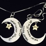 Never Give Up Moon Necklace