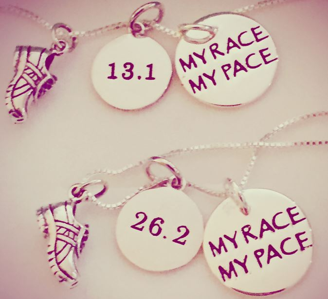 13.1 26.2 My Race My Pace Necklace -1