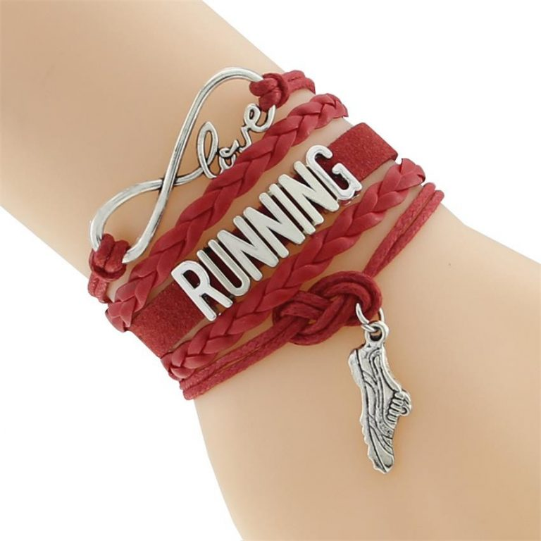 Love running bracelet red