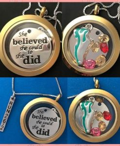 Run Themed Floating Lockets